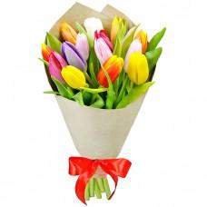 Букет Тюльпаны в крафте 15 шт